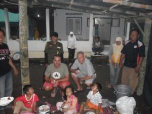 Nous avons amené du matériel dans un camp de réfugiés.